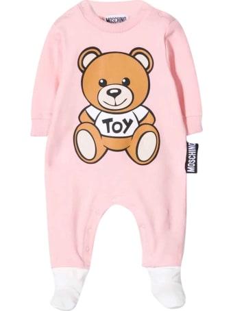 Moschino Pink Newborn Onesie
