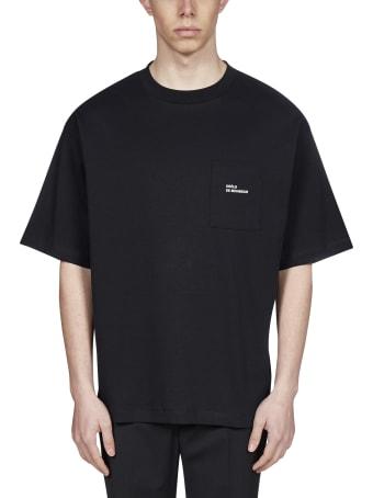 Drôle de Monsieur Logo Chest-pocket Cotton T-shirt