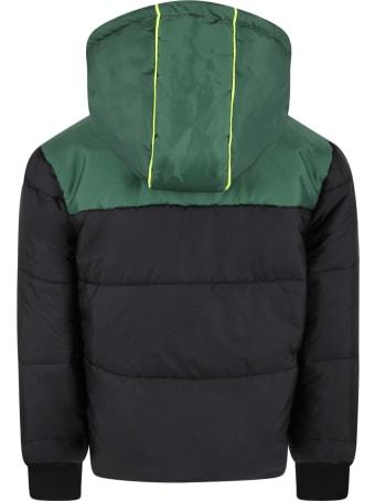 Australian Black Jacket For Kids With Yellow Kangaroo
