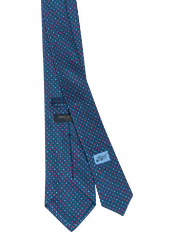 Eddy Monetti Flower Motif Print Neck Tie