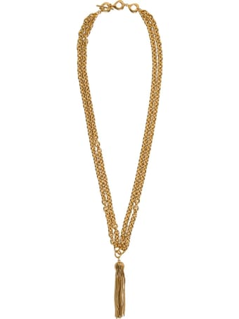 Saint Laurent Metal Oyum Necklace With Tassel