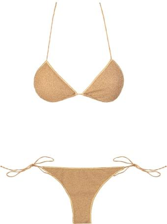 Oseree Gold Lumiere Two Piece Bikini