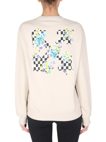 Off-White Check Arrows Printed Sweatshirt