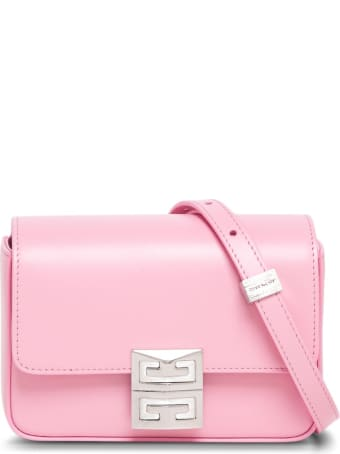 Givenchy Crossbody Bag In Pink Leather With 4g Buckle