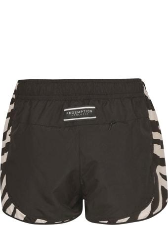 REDEMPTION Zebra Detail Nylon Shorts