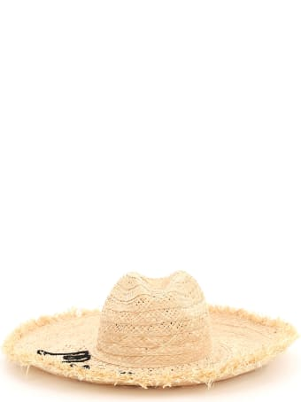 Miu Miu Straw Hat With Logo