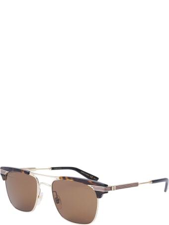 Gucci Gucci Gg0287s Dark Havana Sunglasses