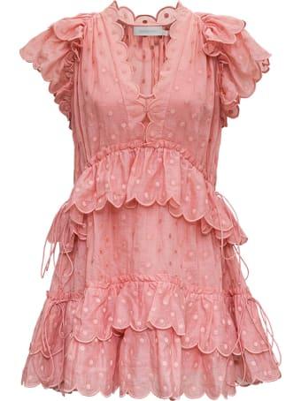 Zimmermann Pink Mae Dot Dress