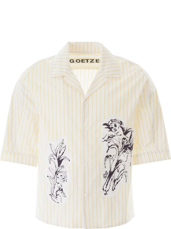 Goetze Striped Ted Shirt With Patch