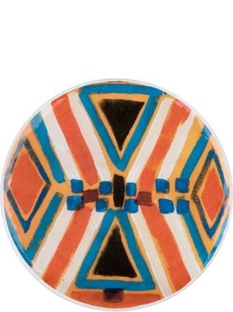 Le Botteghe su Gologone Plates White Murano Glass Colores 19 + 25 + 28 Cm