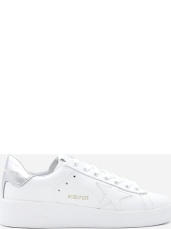 Golden Goose Pure New Sneakers In Leather With Contrasting Heel Tab