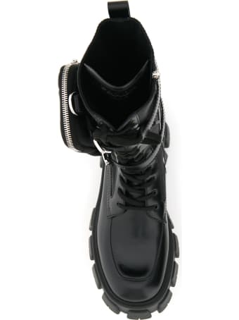 Prada Monolith Boots Double Pouch