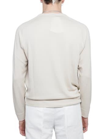 Massimo Alba White Sport 1 Ply Sweater