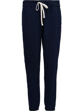 Polo Ralph Lauren Blue Cotton Blend Jogger With Drawstring