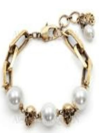 Alexander McQueen Chain Peral Bracelet