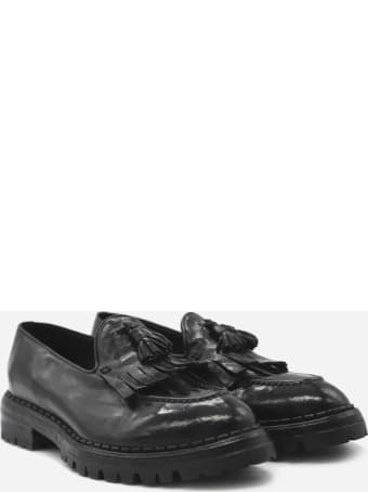 Eleventy Leather Loafers With Tassels