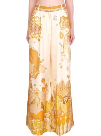 Zimmermann Pants In Gold Silk