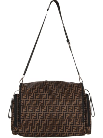 Fendi Brown Changing Bag With Double Ff For Baby Boy