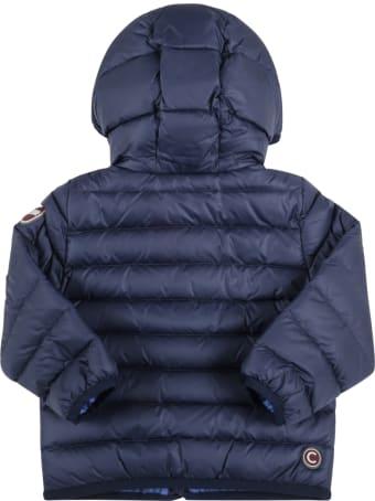 Colmar Blue Jacket For Baby Boy With Logo
