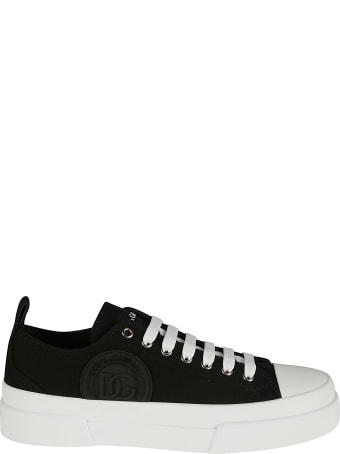 Dolce & Gabbana Embossed Logo Sided Sneakers