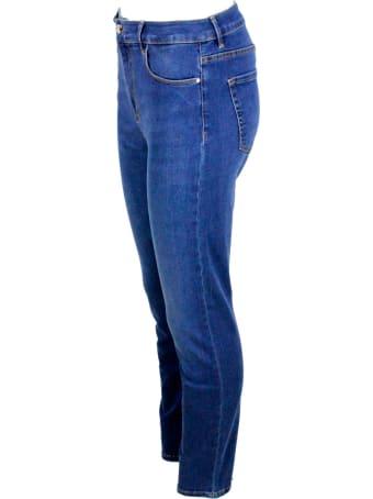 Sartoria Tramarossa Tres Belle Trousers In 5-pocket Stretch Denim, Slim Model With A High Waist