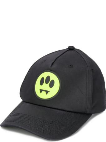 Barrow Smiley Hat In Black Cotton