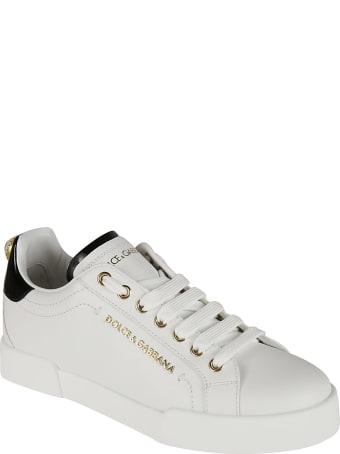 Dolce & Gabbana Logo Plaque Embellished Sneakers