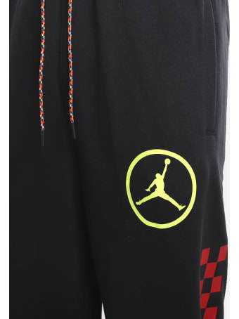 Jordan Dna Sport Trousers In Cotton Blend With Multicolor Logo