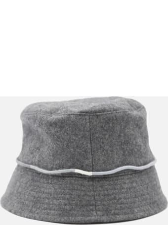 Ruslan Baginskiy Bucket Hat In Wool Blend With Monogram Detail