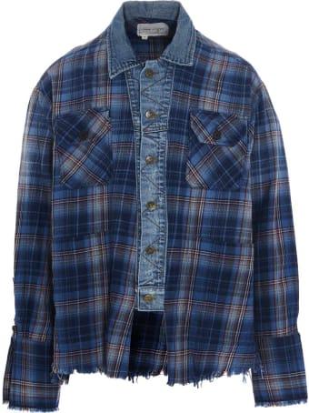 Greg Lauren 'agoura Trucker Front Boxy Studio' Shirt