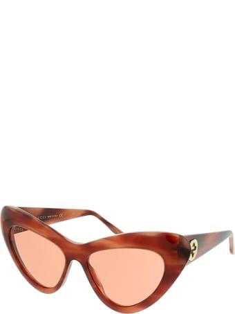 Gucci Gucci Gg0895s Havana Sunglasses