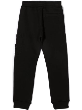 Stone Island Black Cotton Track Pants