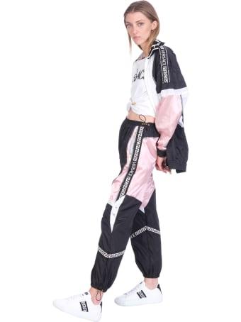 Versace Pants In Black Polyamide