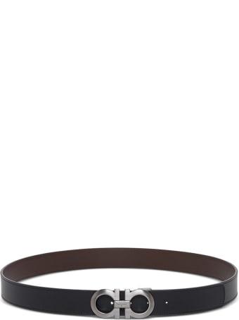 Salvatore Ferragamo Reversible Gancini Leather Belt