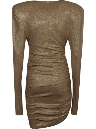 Alexandre Vauthier Crystal Embellished Asymmetric Short Dress