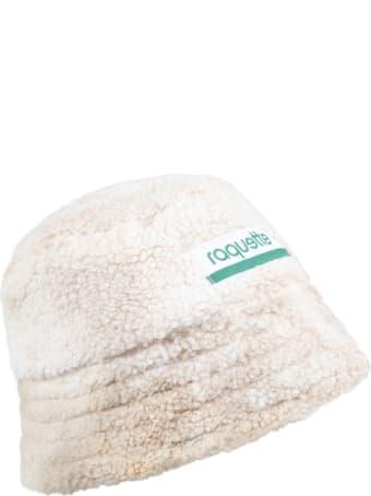 Raquette Beige Bucket Hat For Kids With Logo
