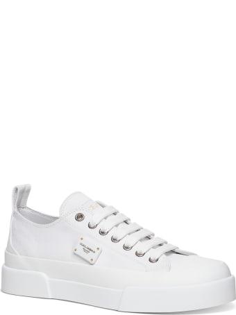 Dolce & Gabbana Portofino Light Leather And Fabric Sneakers