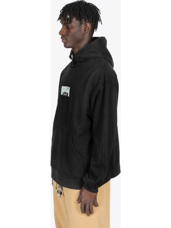 Bonsai Black Cotton Hoodie With Logo Emrboidery