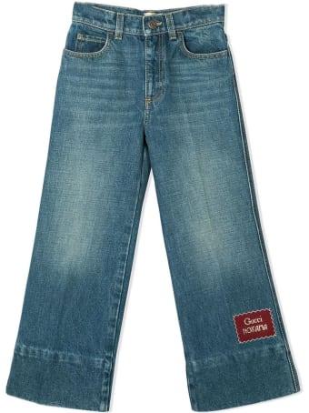 Gucci Blue Cotton Denim Jeans