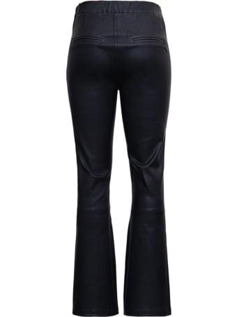 ARMA Flared Black Leather Pants