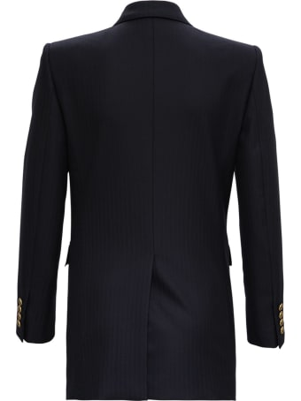 Saint Laurent Double-breasted Blazer In Wool Twill