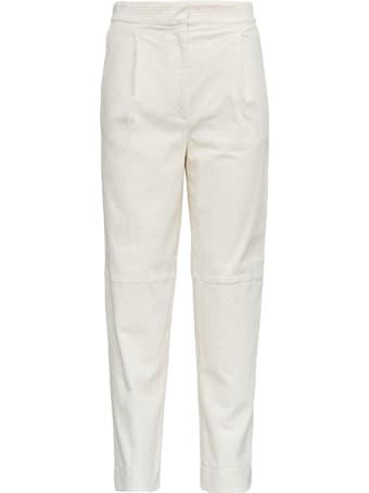 Antonelli Titano White Velvet Trousers