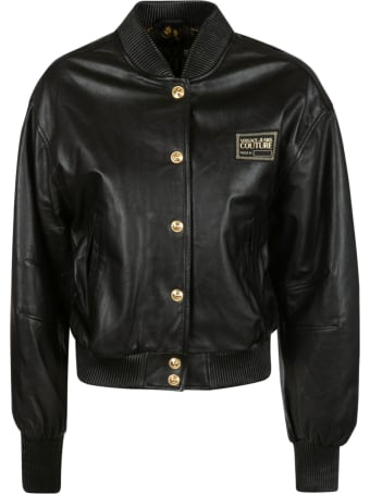 Versace Jeans Couture Logo Patch Bomber