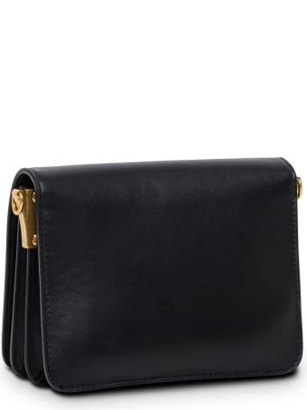 Dsquared2 Black Leather Crossbody Bag With Logo Buckle