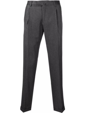 Briglia 1949 Grey Cotton/cashmere/wool Tailored Trousers