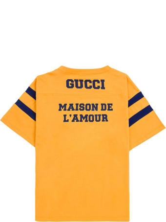 Gucci Yellow Cotton T-shirt With Print