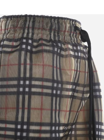Burberry Shorts With All-over Vintage Check Motif
