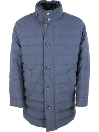 Kired Padded Jacket In Real Goose Down With Retractable Hood. Zip Closure And Detachable Fur Collar