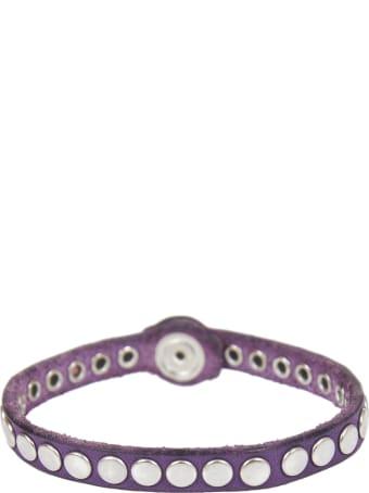 HTC Purple Leather Bracelet