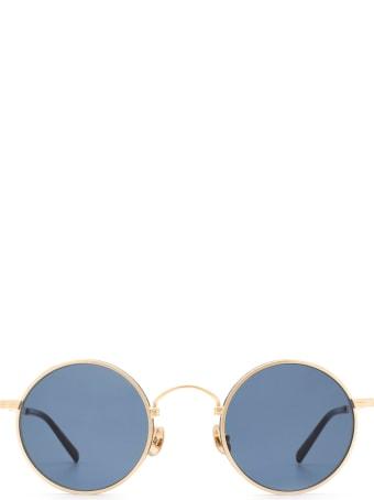 Matsuda Matsuda M3100 Brushed Gold / Matte Black Sunglasses